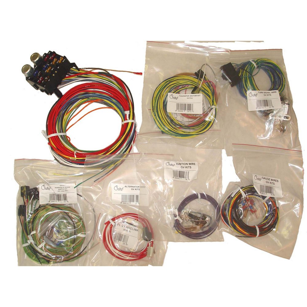 centech wiring harness; 55-86 jeep cj models | chassis wire harness  4x4 works