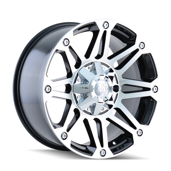 RIOT (8010) BLACK/MACHINED FACE 20x9 | Riot (8010)