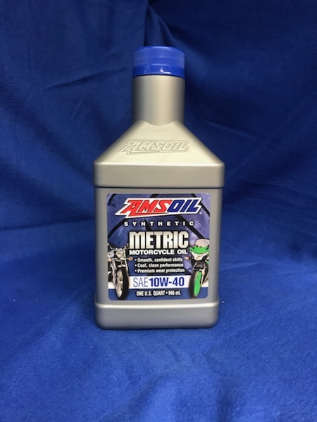 10w 40 Synthetic Metric Motorcycle Oil Amsoil