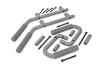 Image Jeep Solid Steel Grab Handle Set (07-18 Wrangler JK | Gray)