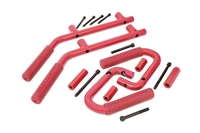Image Jeep Solid Steel Grab Handle Set (07-18 Wrangler JK | Red)