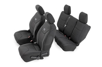 Image Black Neoprene Seat Cover Set (Front & Rear)