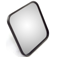 Image Narrow Mirror Head, Black; 55-86 Jeep CJ Models