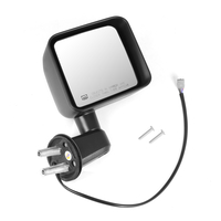 Image Heated Power Mirror, Right, Black; 11-13 Jeep Wrangler JK