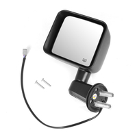 Image Heated Power Mirror, Left, Black; 11-13 Jeep Wrangler JK