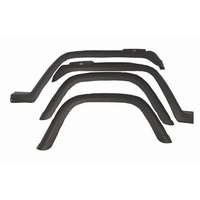 Image 4 Piece Fender Flare Kit; 87-95 Jeep Wrangler YJ