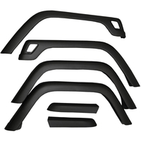 Image 6 Piece Fender Flare Kit; 97-06 Jeep Wrangler TJ