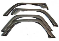 Image 4 Piece Fender Flare Kit; 97-06 Jeep Wrangler TJ
