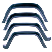 Image 4 Piece Fender Flare Kit; 84-96 Jeep Cherokee XJ