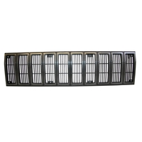 Image Grille Insert, Black/Gray; 84-87 Jeep Cherokee XJ