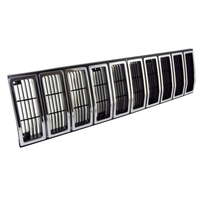 Image Grille Insert, Black/Chrome; 84-87 Jeep Cherokee XJ