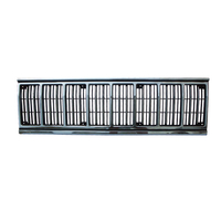 Image Grille Insert, Black/Chrome; 91-96 Jeep Cherokee XJ