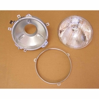 Image Headlight Assembly with Bulb; 76-86 Jeep CJ Models