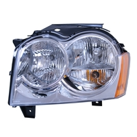Image Left Headlight Assembly; 05-10 Jeep Grand Cherokee WK