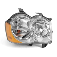 Image RH Headlight without Fog Lights; 05-10 Jeep Grand Cherokee WK