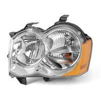 Image LH Headlight without Fog Lights; 05-10 Jeep Grand Cherokee WK