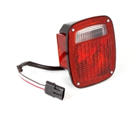 Image Tail Light, Left, Black Housing; 87-90 Wrangler YJ