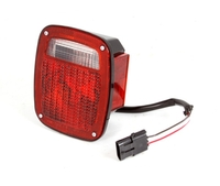Image Tail Light, Right, Black Housing; 87-90 Wrangler YJ