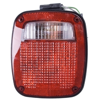 Image Left Black Tail Lamp; 91-97 Jeep Wrangler YJ/TJ