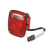 Image Right Black Tail Lamp; 91-97 Jeep YJ/TJ Wrangler