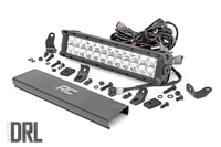 Image 12-inch Cree LED Light Bar - (Dual Row | Chrome Series w/ Cool White DRL)