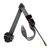Image Off Road Seat Belt, Black; 92-95 Jeep Wrangler YJ