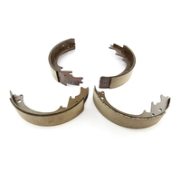 Image Brake Shoes, Unfinned Drum; 74-78 Jeep SJ Models