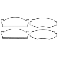 Image Brake Pads, Front ; 78-81 Jeep CJ Models