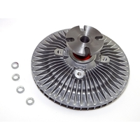 Image Fan Clutch w/ Serp Belt; 81-87 Jeep SJ Models