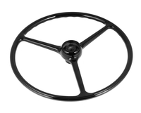 Image Steering Wheel, Black; 64-75 Jeep CJ Models