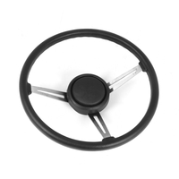 Image Steering Wheel Kit, Leather; 76-95 Jeep CJ/Wrangler
