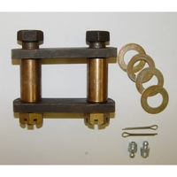 Image HD Shackle Kit; 55-75 Jeep CJ Models