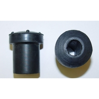 Image Rubber Front Spring Bushing; 76-86 Jeep CJ Models