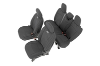 Image Jeep Neoprene Seat Cover Set | Black [2018 Wrangler JL Unlimited]