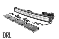 Image 30-inch Curved Cree LED Light Bar - (Dual Row   Chrome Series w/ Cool White DRL)