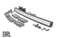 Image 40-inch Curved Cree LED Light Bar - (Dual Row   Chrome Series w/ Cool White DRL)
