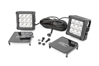 Image 4-inch Square Cree LED Lights - (Pair | Chrome Series w/ Cool White DRL)