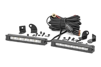 Image 6-inch Slimline Cree LED Light Bars (Pair | Chrome Series)