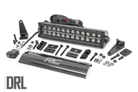 Image 12-inch Cree LED Light Bar - (Dual Row | Black Series w/ Cool White DRL)
