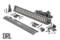 Image 20-inch Cree LED Light Bar - (Dual Row | Black Series w/ Cool White DRL)