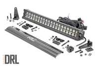 Image 20-inch Cree LED Light Bar - (Dual Row | Black Series w/ Amber DRL)