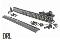 Image 30-inch Curved Cree LED Light Bar - (Dual Row | Black Series w/ Amber DRL)