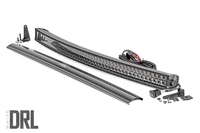 Image 50-inch Curved Cree LED Light Bar - (Dual Row | Black Series w/ Cool White DRL)