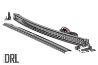 Image 54-inch Curved Cree LED Light Bar - (Dual Row | Black Series w/ Cool White DRL))