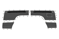 Image Jeep Rear Upper and Lower Quarter Panel Armor (97-01 Cherokee XJ)
