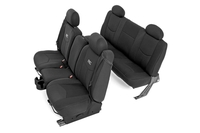 Image GM Neoprene Front & Rear Seat Cover Combo | Black [99-06 Chevy / GMC 1500]