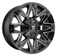 Image Ambush D555 - Gloss Black & Milled 17x9