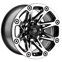 Image 522 Flash - GLOSS BLACK MACHINED 15x8