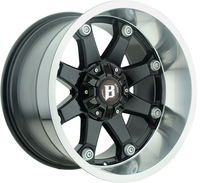Image 581 Beast - GLOSS BLACK MACHINED (INNER TO OUTER LIP) 20x10