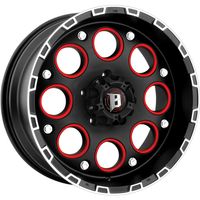 Image 813 Enigma - FLAT BLACK w/ MACHINED LIP 17x9